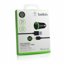 Belkin Dual Car Charger + kabel iphone (bonus kabel micro usb) Good Quality