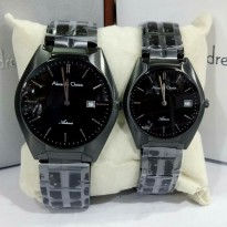 Alexandre Christie 8521 Full Hitam - Jam Tangan Couple Original