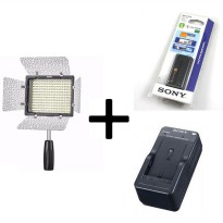 Yongnuo YN-160III LED Video Light for DSLR and Camcorders + Battery Sony NP-F570 + Charger Sony BC-V615 [Paket]