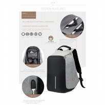 Tas Anti Maling (Anti Theft Backpack - Smart Back Pack) USB CHARGER