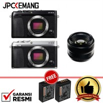 Fujifilm XE3 Body with 35mm f/1.4R Free 2Pcs Extra Battery NP-W126S GARANSI RESMI
