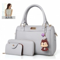 Tas Sandang Hand Bag Grey Like Elizabeth Hush Puppies Wanita Gray 2In1 c03bd28064