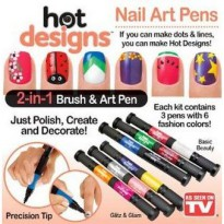 Six Color Starter Kit Hot Design Nail Art Basic Kit Salon Polish Polish Pen Brush As Seen on Tv
