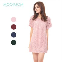 MOOIMOM Full Lace Nursing Dress Baju Hamil Menyusui