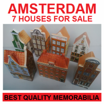 7 MINIATURE AMSTERDAM HOUSE FOR SALE - SCALE 1/100