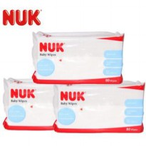 NUK Germany Baby Wipes Tissue Basah 3x80 Lembar Extra Soft + Thick