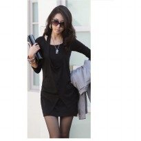 European and American fashion Slim false two dress
