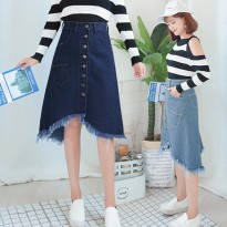(#6093)Jennifer Denim Skirt/Rok Midi/Rok Jeans/Rok Denim
