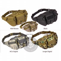 (Gold Product) Tas Pinggang Tactical Multifungsi Military Outdoor Pack Import T08