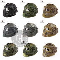 [Platinum] Helm Tactical Emerson G4 Full Gear Face Protection Mask Goggle Ori