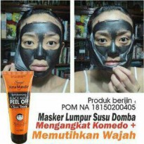 [BPOM] NATURGO SUSU DOMBA SYUGA WHITENING BLACK MASK PEEL OF