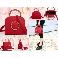 Tas Kempit Shoulder Small Bag Merah Hati Love Wanita Palomino Bottega