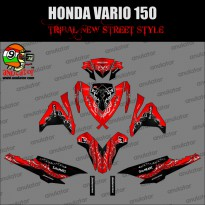 Sticker striping motor stiker Honda Vario 150 ESP Maroon Tribal Spec B