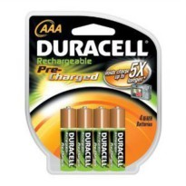 [poledit] Duracell Pre Charged Rechargeable Nimh 4 AAA Batteries,ideal for High-drain Item/9875200