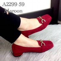 Eliza®️ Maxwell Suede Classic Pumps Spring Summer A2299-59 - Maroon