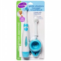 Mastela Gentle Vibrations Massager & Toothbrush 2 heads with 4 functions