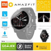 Godric 2 PCS TPU Screen Protector Anti Gores for Xiaomi Huami Amazfit STRATOS PACE 2