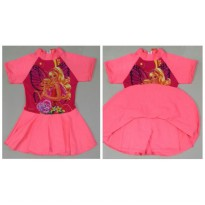 RNKD50 - Baju Renang Anak Diving Rok Barbie Kupu Oren Light