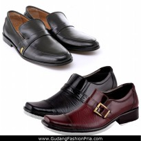 Sepatu Formal Pria Bahan Kulit | High Quality Men Dress Shoes | Office Look / Pantofel