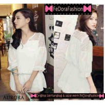 BLOUSE AURORA GLITER 2 WARNA TWISCONE
