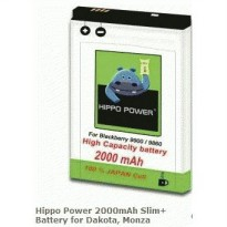 Hippo Power 2000mAh Slim+ Battery for Dakota, Monza - BERGARANSI RESMI