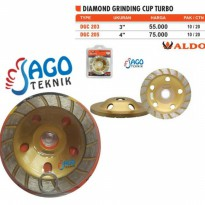 Diamond Cup / Grinding Cup Turbo 4 inch ALDO