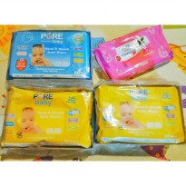 Purebaby Wipes Paket 6 Hand And Mouth Isi 60 1 Cleansing Isi 60 Termurah03