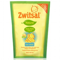 PAKET ISI 2 - ZWITSAL NATURAL BABY BATH 2IN1 REFILL 450ML