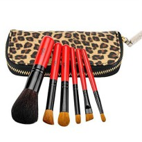 [macyskorea] MSQ Natural Cosmetic Makeup Brush Set/ 6pcs Brushes and leopard Pouch Cosmeti/18816453