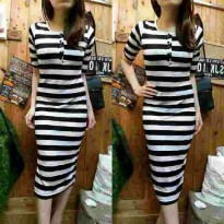 Dress Body Con Salur