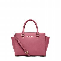 Michael Kors Selma Saffiano Leather Medium Satchel - Tulip ( DB055 Tulip )