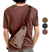 Uncle Star Tas Slempang Pria Import Kanvas Militer / Tas Slempang Messenger Shoulder Bag