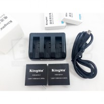 Kingma Triple Charger & 2 pcs Battery For Xiaomi Yi 2 4K