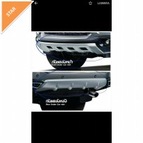 FRONT AND REAR SKID PLATE ALL NEW MITSUBISHI PAJERO 2016