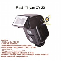 Flash Yinyan Cy-20 for Canon Nikon Pentax Fuji dll