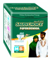 Adult Diapers Saudi Choice M8 - Popok Dewasa Size M Isi 8 Pcs