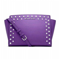 Michael Kors Selma Messenger Jewel - Ungu (DB116 Purple)