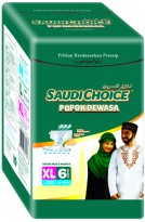 Adult Diapers Saudi Choice XL6 - Popok Dewasa Size XL Isi 6 Pcs