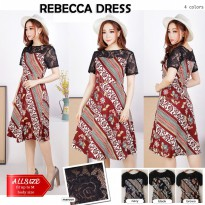 JO & NIC REBECCA Batik Dress Kombinasi Brokat - Dress Batik Wanita Modern