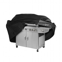 Black Waterproof Bbq Cover Outdoor Rain Barbecue Grill Protector For Gas Charcoal [Size: L]