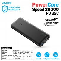 PowerBank Anker A1275 PowerCore Speed PD 20000mAh Q.C 3.0 Black