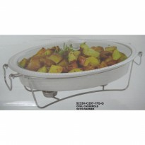 [Onemore] Oval Casserole 5233H with Cover, Alat katering, Wadah Makanan Saji