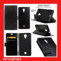 Wiko Tommy London Style Leather Case Casing Cover Flip
