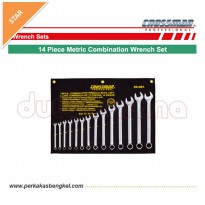 KUNCI RING PAS SET - 14PCS METRIC COMBINATION WRENCH SET/ CROSSMAN