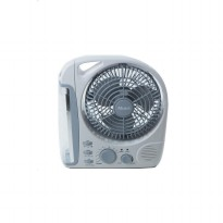 LAMPU EMERGENCY LED DENGAN KIPAS 8', AKARI 3 in 1 PORTABLE FAN WITH RADIO