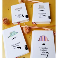 Buku Tulis / Notebook / Agenda Fancy HARD COVER - QUOTES