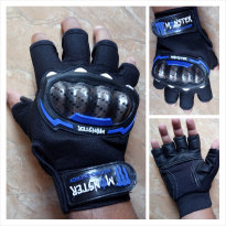 Sarung Tangan MONSTER Racing Energy Half Finger Warna Biru