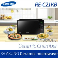 [SAMSUNG] Antibacterial Ceramic Microwave Oven RE-C21KB (21L) / Heat timer cooking bake electric