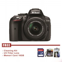 Nikon D5300 Kit 18-55mm VR - Hitam