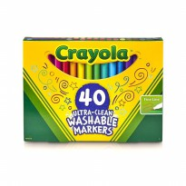 Crayola Washable Ultra-Clean Fine Line Markers 40 Count [Original USA]